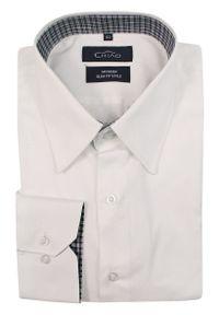 Elegancka koszula Chiao na spotkanie biznesowe, z długim rękawem, z aplikacjami