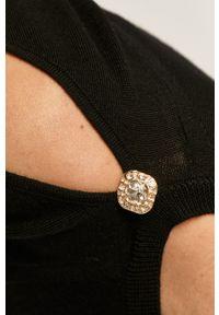 Czarny sweter Liu Jo z długim rękawem, casualowy, na co dzień