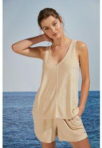 Women Secret - women´secret - Piżama. Kolor: beżowy