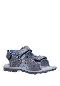 Casu - szare sandały na rzepy casu la95. Zapięcie: rzepy. Kolor: szary