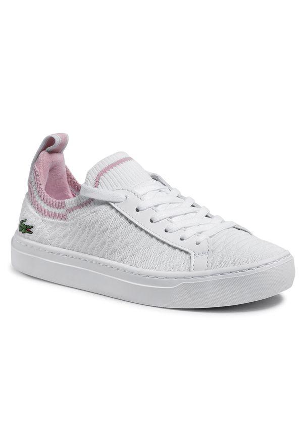 Lacoste - Sneakersy LACOSTE - La Piquee 0721 1 Cfa 7-41CFA00051Y9 Wht/Lt Pnk. Kolor: biały. Materiał: materiał. Szerokość cholewki: normalna. Obcas: na płaskiej podeszwie