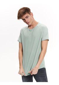 Zielony t-shirt TOP SECRET krótki, na co dzień, z krótkim rękawem