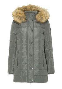 Cellbes Puchowa kurtka khaki female zielony 38/40. Typ kołnierza: kołnierzyk stójkowy. Kolor: zielony. Materiał: puch. Wzór: aplikacja