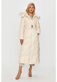 Kremowa kurtka TwinSet klasyczna, z kapturem