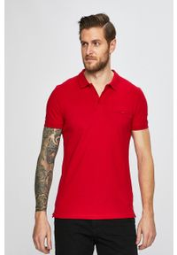 Czerwona koszulka polo medicine polo, krótka