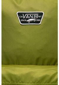 Vans - Plecak. Kolor: oliwkowy. Materiał: materiał, nylon, poliester. Wzór: aplikacja, paski #5