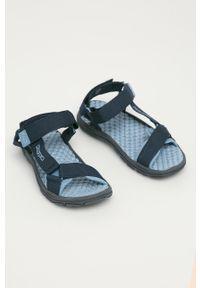 Niebieskie sandały Kappa na rzepy, gładkie