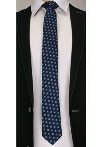 Niebieski krawat Angelo di Monti elegancki
