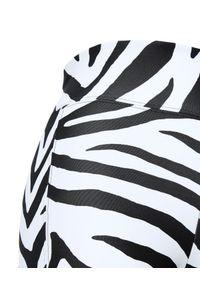 REDEMPTION ATHLETIX - Sportowe kolarki w zebrę. Stan: podwyższony. Kolor: czarny. Materiał: nylon. Wzór: motyw zwierzęcy. Styl: sportowy