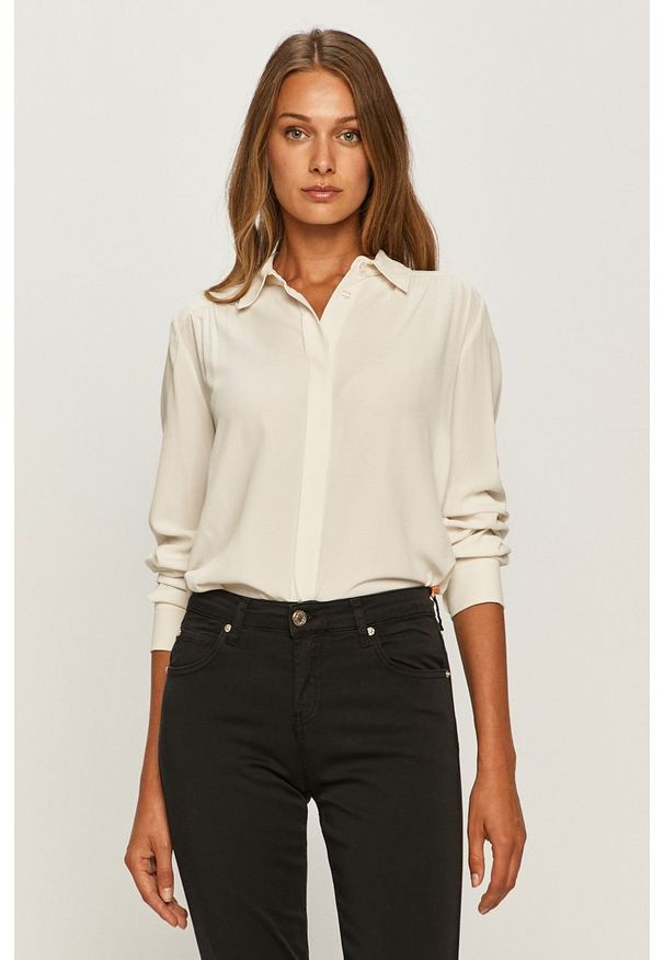 Biała koszula Sportmax Code casualowa, na co dzień, z klasycznym kołnierzykiem