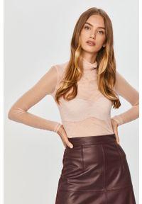 Różowa bluzka MAX&Co. długa, z golfem