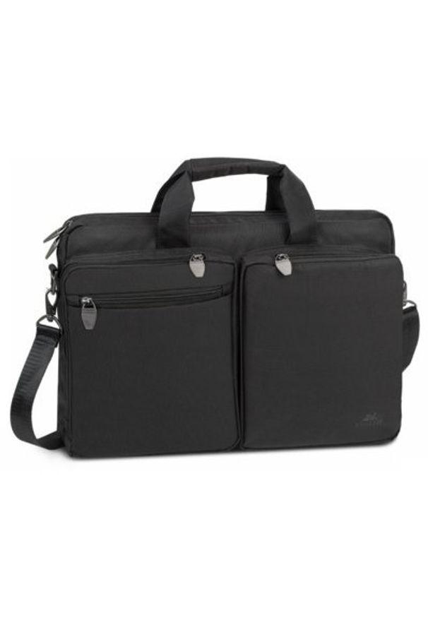 Czarna torba na laptopa RIVACASE młodzieżowa