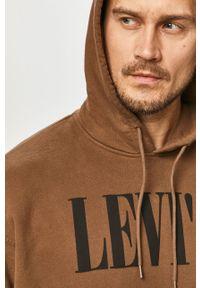 Brązowa bluza nierozpinana Levi's® z kapturem, na spotkanie biznesowe, biznesowa