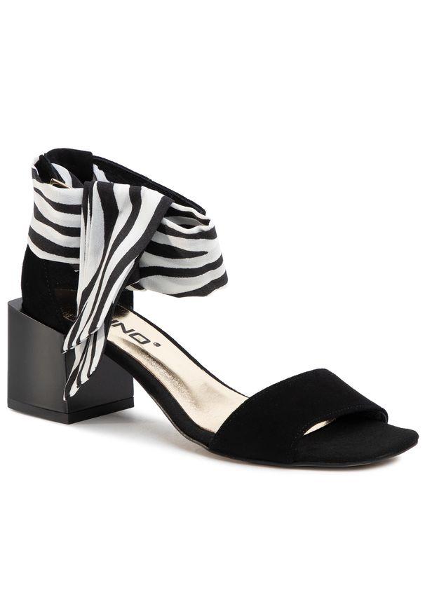 Czarne sandały Karino na co dzień, casualowe