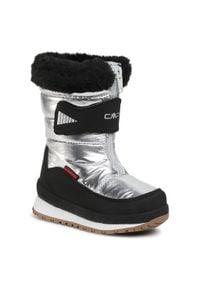 Śniegowce CMP - Baby Ehos Snow Boot Wp 30Q4602 Silver U303. Kolor: srebrny. Materiał: skóra, materiał. Szerokość cholewki: normalna. Sezon: zima, jesień