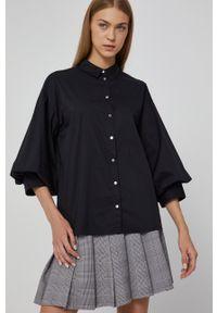 medicine - Medicine - Koszula Essential. Okazja: na co dzień. Kolor: czarny. Materiał: tkanina. Wzór: gładki. Styl: casual