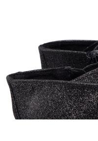 Steve Madden - Botki STEVE MADDEN - Skylar SM11001184-02005-737 Black Glitter. Okazja: do pracy, na spacer, na co dzień. Kolor: czarny. Szerokość cholewki: normalna. Wzór: jednolity. Materiał: materiał. Sezon: zima, jesień. Obcas: na obcasie. Styl: casual. Wysokość obcasa: średni