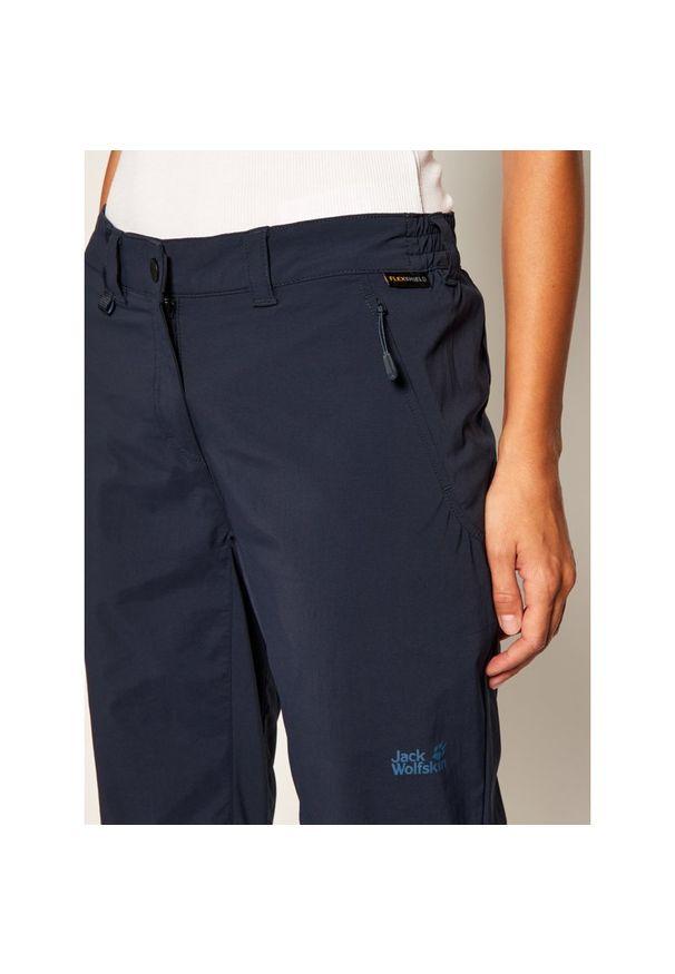 Niebieskie spodnie trekkingowe Jack Wolfskin outdoorowe