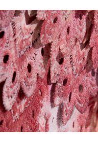 IXIAH - Krótka spódnica Enox. Kolor: czerwony. Materiał: koronka. Długość: krótkie. Wzór: koronka, nadruk