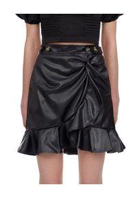 SELF PORTRAIT - Czarna spódnica ze skóry ekologicznej. Kolor: czarny. Materiał: skóra ekologiczna. Styl: klasyczny, elegancki
