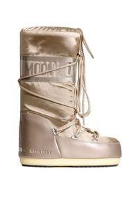 Moon Boot - Śniegowce MOON BOOT JR GLANCE. Materiał: syntetyk, satyna, kauczuk, nylon, materiał. Szerokość cholewki: normalna. Styl: młodzieżowy, glamour