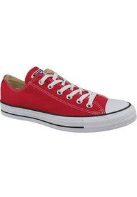 Czerwone trampki Converse z cholewką, w kolorowe wzory