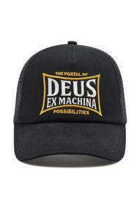 Deus Ex Machina - Czapka z daszkiem DEUS EX MACHINA - Twinbox Trucker DMP207835 Black. Kolor: czarny. Materiał: bawełna, poliester, materiał
