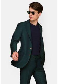 Lancerto - Garnitur Zielony Alberes. Kolor: zielony. Materiał: wiskoza, materiał, wełna, tkanina, poliester. Wzór: ze splotem, gładki