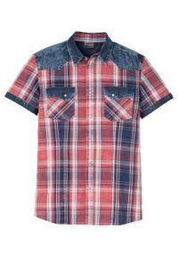 Czerwona koszula bonprix z krótkim rękawem, krótka