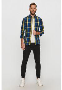 Niebieska koszula Tommy Jeans na co dzień, casualowa, z klasycznym kołnierzykiem
