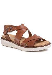 Brązowe sandały Remonte na co dzień, casualowe