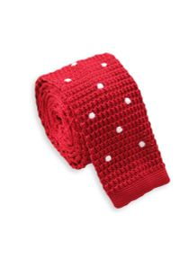 Czerwony krawat Alties w grochy, sportowy