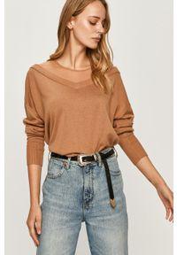 Sweter Guess Jeans długi, z długim rękawem, z aplikacjami