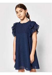 Mayoral Sukienka elegancka 6920 Granatowy Regular Fit. Kolor: niebieski. Styl: elegancki