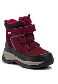 Reima - Śniegowce REIMA - Denny 569354 3690. Kolor: czerwony. Materiał: skóra, skóra ekologiczna, zamsz, materiał