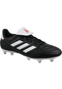 Czarne korki Adidas z cholewką, w kolorowe wzory