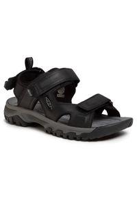 Czarne sandały keen z otwartym noskiem, na lato