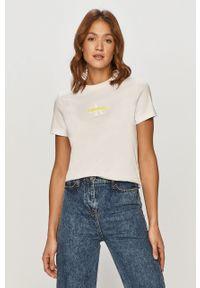 Biała bluzka Calvin Klein Jeans na co dzień, casualowa