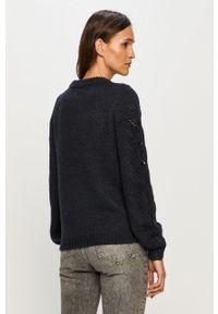 Niebieski sweter Vero Moda na co dzień, z długim rękawem, długi