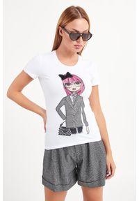 T-shirt Liu Jo w kolorowe wzory, na co dzień, casualowy
