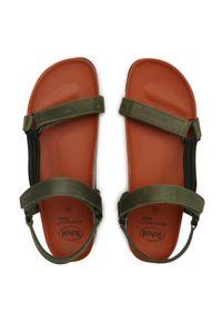Zielone sandały Scholl na lato