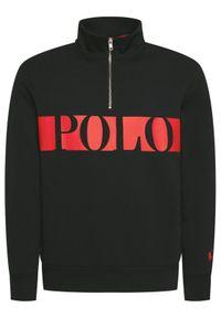 Polo Ralph Lauren Bluza Lsl 710828115001 Czarny Regular Fit. Typ kołnierza: polo. Kolor: czarny