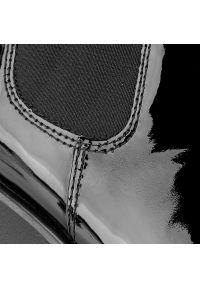 Czarne botki vagabond z cholewką, na średnim obcasie, na obcasie