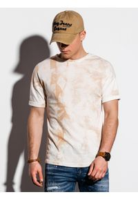 Beżowy t-shirt Ombre Clothing