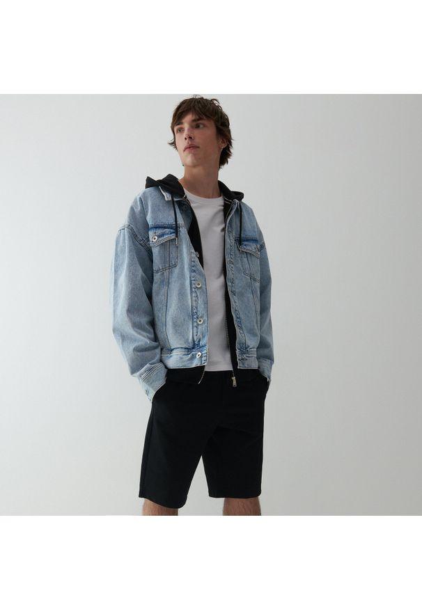 Reserved - Dresowe szorty basic - Czarny. Kolor: czarny. Materiał: dresówka