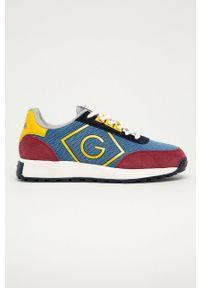 Niebieskie sneakersy GANT z okrągłym noskiem, na sznurówki