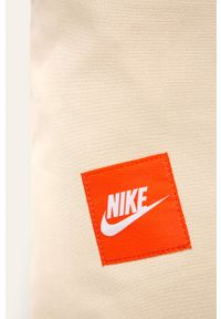 Kremowa shopperka Nike Sportswear na ramię, duża