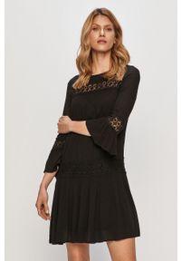 Czarna sukienka only mini, casualowa, z aplikacjami