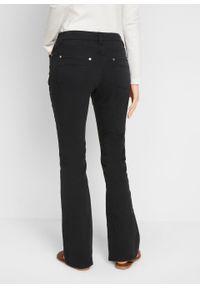 """Spodnie BOOTCUT """"used look"""" bonprix czarny """"used"""". Kolor: czarny"""