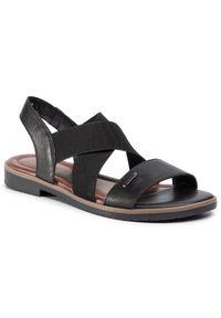 Czarne sandały Lasocki na obcasie, na co dzień